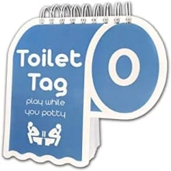 Cheap Funny Gift Ideas - Toilet Tag - Hilarious Game For Adults Who Share The Same Potty