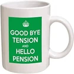 Cheap Retirement Gift Ideas - Good Bye Tension, Hello Pension 11 Oz Coffee Mug