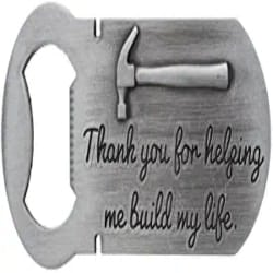 Cheap Small Gift Ideas - Thank You for Helping Me Build My Life Pewter Magnetic Bottle Opener Magnet