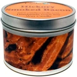 Cheap but Unique Gift Ideas for Men - Hickory Smoked Bacon Super Scented Soy Candle Tin