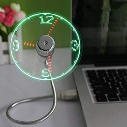Cheap but cool gifts for men - USB LED Clock Fan with Real Time Display Function (1)