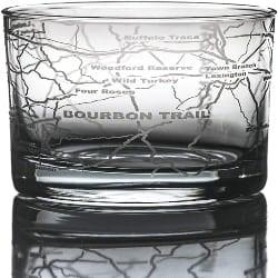 Cool Retirement Gift Ideas for Men - Bourbon Trail Kentucky Whisky (Single Glass)
