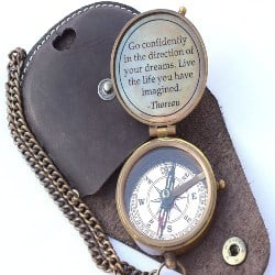 Cool Retirement Gift Ideas for Men - Engraved Compass (1)