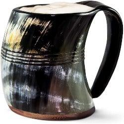 Cool Retirement Gift Ideas for Men - Norse Tradesman Original Viking Drinking Horn Mug (1)