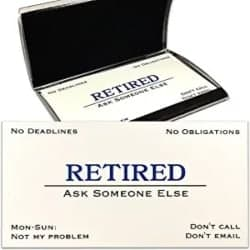 Funny Retirement Gift Ideas for men - Out of Business Cards with Stainless Steel Case
