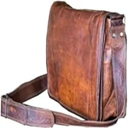 Manly Groomsmen Gift Ideas - 18 inch Leather Full Flap Messenger Handmade Bag