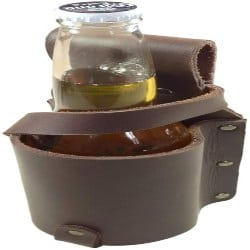 Manly Groomsmen Gift Ideas - Thick Leather Beer Bottle Holster (1)