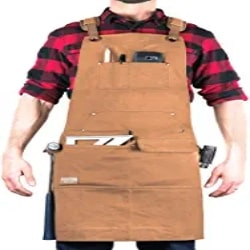 Manly Groomsmen Gift Ideas - Waxed Canvas Apron