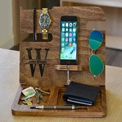 Manly Retirement Gift Ideas for Men - Customizable docking station