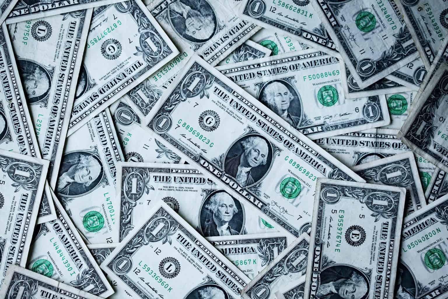 US one-dollar bills