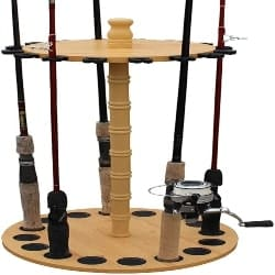 Retirement Gift Ideas for Dad - Rush Creek Creations Round 16 Fishing Rod Storage Rack (1)