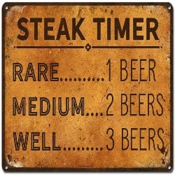 Retirement Gift Ideas for Dad - Steak Timer - Rare 1 Beer, Medium 2 beers, Well Done 3 Beers (1)