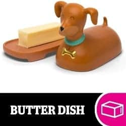 Small Cute Gift Ideas - Weiner Dog Ceramic Butter Dish (1)