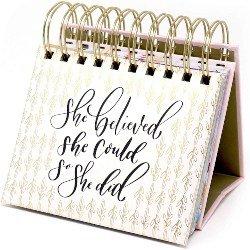 Small Gift Ideas for Girlfriend - Inspirational Standing Desktop Flip Calendar (1)