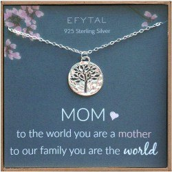 Small Gift Ideas for Mom - Sterling Silver Tree of Life Necklace (1)