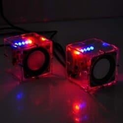 Transparent Stereo Speaker Box Sound Amplifier