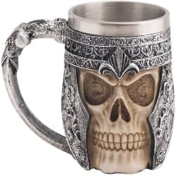 Small Manly Gift Ideas - Viking Stainless Steel Skull Coffee Mug (1)