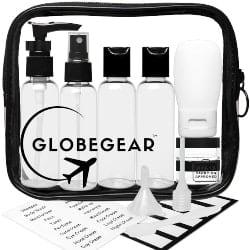 Small Retirement Gift Ideas for Men - Travel Bottles & TSA Approved Toiletry Bag (1)