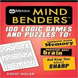 Thoughtful Retirement Gift Ideas for Men - Mind Benders 100 Logic Games and Puzzles to Improve Your Memory, Exercise Your Brain, and Keep Your Mind Sharp (1)