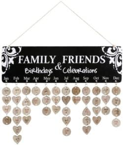 Unique Gifts For Dad Who Have Everything - Wooden Family Birthday Reminder