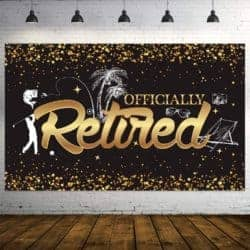 Unique Retirement Gift Ideas For Men Who Have Everything - Retirement Party Banner Photo Booth