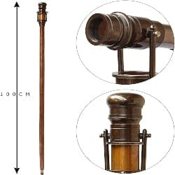 Unique Retirement Gift Ideas for Men - Hollywood Telescope Walking Stick (1)