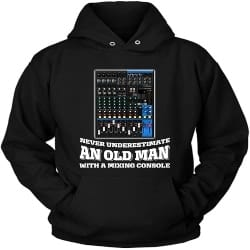 Unique Retirement Gift Ideas for Men - Never Underestimate an Old Man with a Mixing Console Gift (1)
