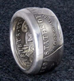Dollar Double Sided Coin Ring