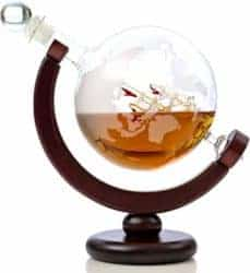 Unique but Thoughtful Gifts For Men Who Have Everything - Whiskey Globe Decanter