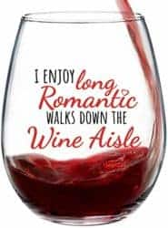 Valentines Day Gifts for Girlfriend - I Enjoy Long Romantic Walks Down the Wine Aisle