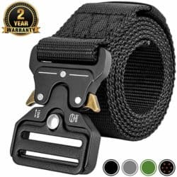 best EDC gear essentials - MOZETO Tactical Belt with Quick-Release