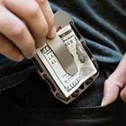 best EDC gear essentials - Tactical Titanium EDC Minimalist Slim Wallet