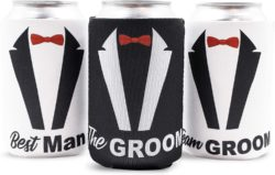 cool gifts - Bachelor Party Beer Can Covers