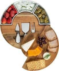 cool gifts - Charcuterie Board Set and Cheese Serving Platter