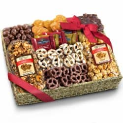 cool gifts - Chocolate Caramel and Crunch Grand Gift Basket