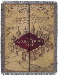 cool gifts - Harry Potter Marauder's Woven Tapestry Throw Blanket
