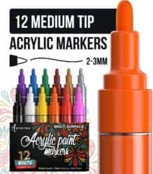 cool gifts - Paint Pens for Rock Painting, Ceramic, Porcelain, Glass, Wood, Fabric, Canvas