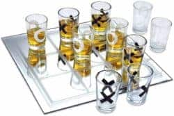 cool gifts - Shot Glass Tic Tac Toe Game