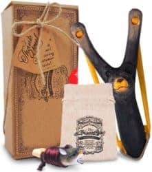 cool gifts - Wooden Bear Slingshot and Whistle