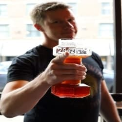 cool gifts for dad - dumbbell beer glass