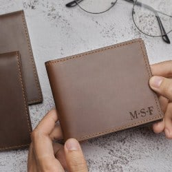 Cheap Gifts For Dad - Personalised Wallet With Initials