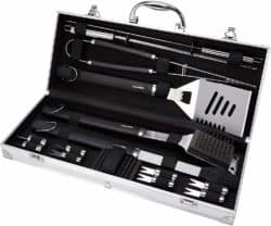 cool gifts for guys - 15-piece Stainless-Steel Barbecue Set