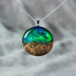 cute gifts - Wood resin necklace