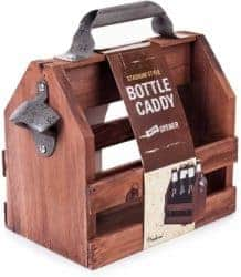 cute gifts - Wooden Bottle Caddy