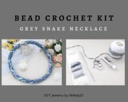 diy gifts - Seed bead necklace DIY Kit