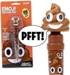 funny gifts for men - Farting Poop Emoji Pen