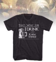 funny gifts for men - I drink and I know Things