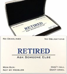 funny gifts for men - Out of Business Cards with Stainless Steel Case