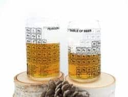funny gifts for men - Periodic Table of Beer Pint Glasses