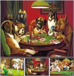 funny gifts for men - Poker Dogs 3D Poster